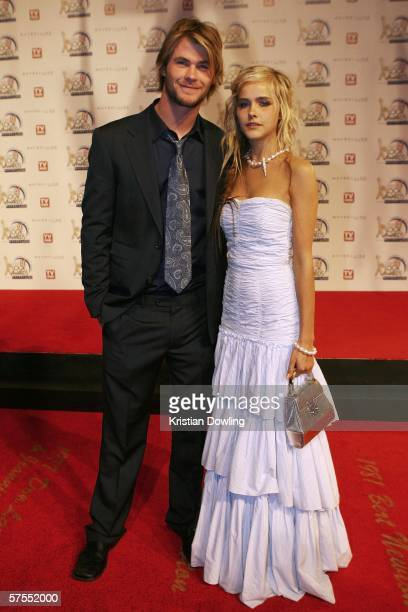 Actors Chris Hemsworth and Isabel Lucas arrive at the 48th Annual TV Week Logie Awards at the Crown Entertainment Complex May 7 2006 in Melbourne...