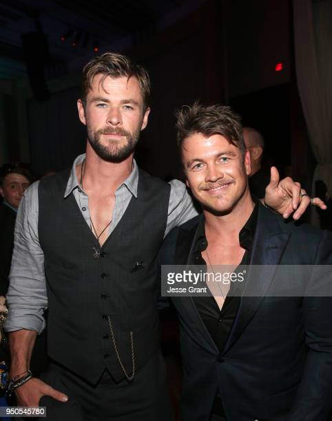 Actors Chris Hemsworth and Luke Hemsworth attend the Los Angeles Global Premiere for Marvel Studios' Avengers Infinity War on April 23 2018 in...