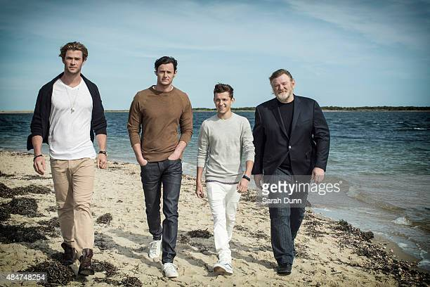 Actors Chris Hemsworth Benjamin Walker Tom Holland and Brendan Gleeson are photographed for Entertainment Weekly magazine on October 6 2014 in...