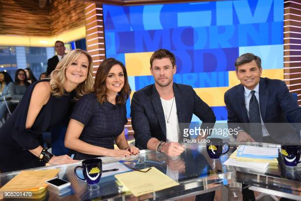 AMERICA Actors Chris Hemsworth Michael Pena Trevante Rhodes and producer Jerry Bruckheimer are guest on 'Good Morning America' Monday January 15...
