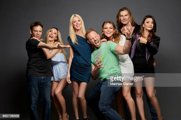 Actors Chris Kattan Chloe Lattanzi Tara Reid Ian Ziering irector Anthony Ferrante Cassie Scerbo Fabio and Masiela Lusha from Sharknado 5 are...