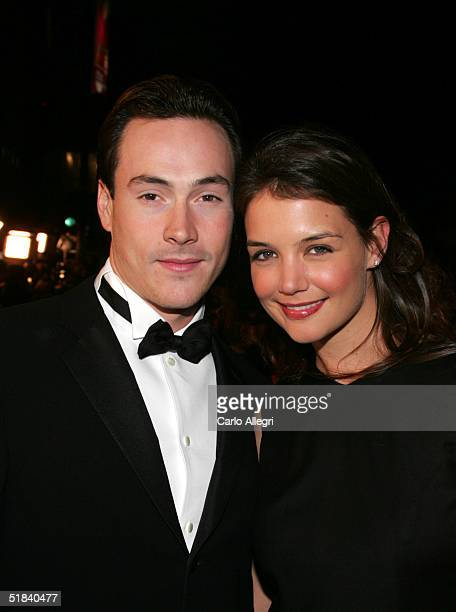 Actors Chris Klein and Katie Holmes arrive to the Warner Bros premiere of the film Ocean's Twelve at Grauman's Chinese Theatre December 8 2004 in...