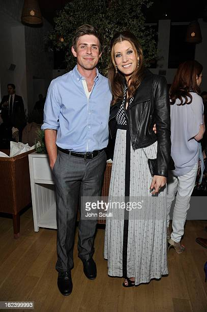 Actors Chris Lowell and Kate Walsh attend the Women In Film's 6th Annual PreOscar Party hosted by Perrier Jouet MAC Cosmetics and MaxMara at Fig...