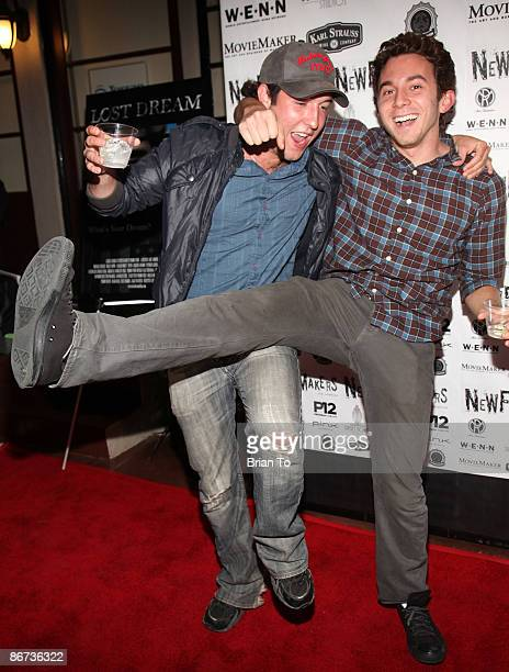 Actors Chris Marquette and Aaron Himmelstein arrive at Lost Dream Los Angeles Premiere at the Stanley Kramer Theater on May 7 2009 in Hollywood...