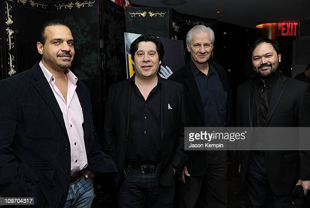 Actors Chris McKinney Triney Sandoval Tom Bloom and Orville Mendoza attend the opening night of 'Timon Of Athens' at Chinatown Brasserie on March 1...