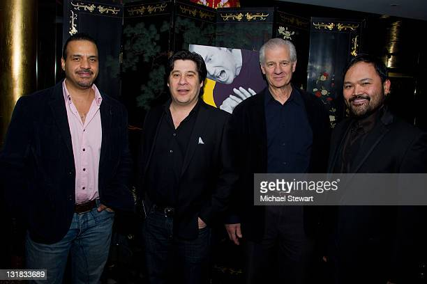 Actors Chris McKinney Triney Sandoval Tom Bloom and Orville Mendoza attend the opening night of 'Timon of Athens' at the Chinatown Brasserie on March...