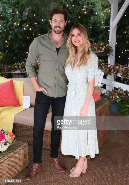 Actors Chris McNally and Leah Renee visit Hallmark's Home Family at Universal Studios Hollywood on May 15 2019 in Universal City California
