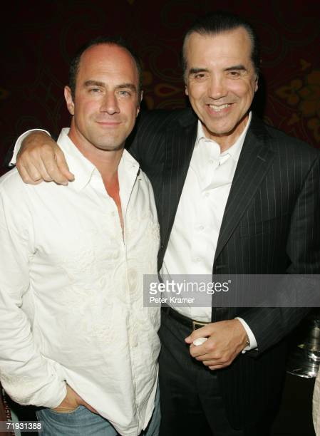 Actors Chris Meloni and Chazz Palminteri attend the after party for the First Look Pictures premiere A Guide To Recognizing Your Saints on September...