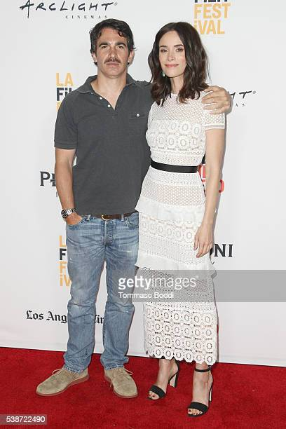 """Actors Chris Messina and Abigail Spencer attend the premiere of """"The Sweet Life"""" during the 2016 Los Angeles Film Festival at Arclight Cinemas Culver..."""