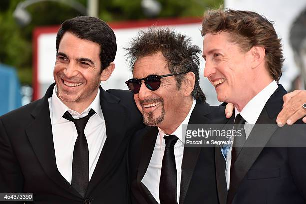 Actors Chris Messina and Al Pacino with director David Gordon Green attends the 'Manglehorn' premiere during 71st Venice Film Festival on August 30...