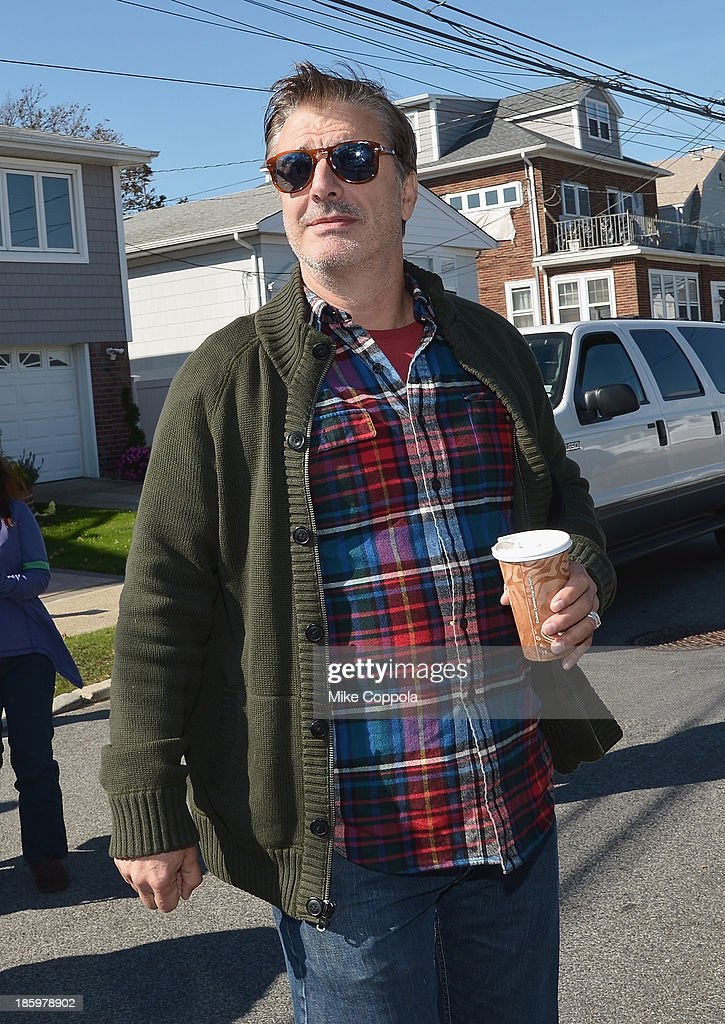 Actors Chris Noth joins the The Cast Of 'The Good Wife' to Celebrate Their100th Episode With A Day Of Service For The St. Bernard Project on October 26, 2013 in New York City.