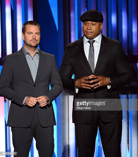 Actors Chris O'Donnell and LL Cool J speak onstage during ACM Presents An AllStar Salute To The Troops at the MGM Grand Garden Arena on April 7 2014...