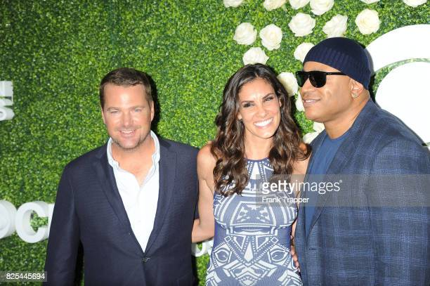 Actors Chris O'Donnell Daniela Ruah and LL Cool J attend the 2017 Summer TCA Tour CBS Television Studios' Summer Soiree at CBS Studios Radford on...
