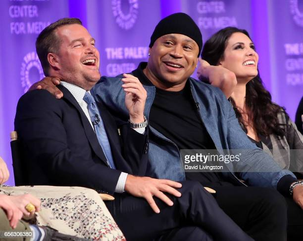Actors Chris O'Donnell, LL Cool J and Daniela Ruah appear on stage at The Paley Center for Media's 34th Annual PaleyFest Los Angeles presentation of...