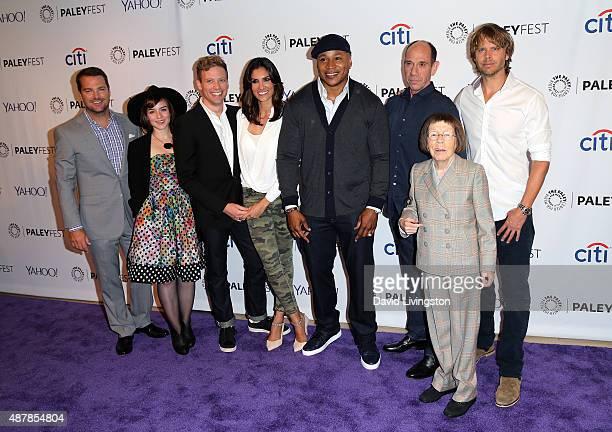 Actors Chris O'Donnell, Renee Felice Smith, Barrett Foa, Daniela Ruah, LL Cool J, Miguel Ferrer, Linda Hunt and Eric Christian Olsen attend The Paley...