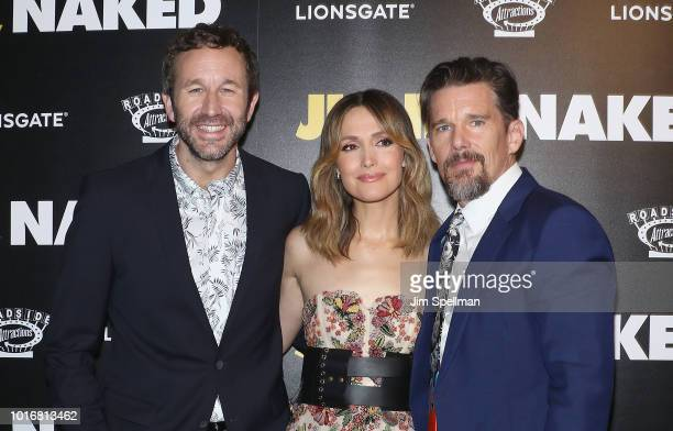 Actors Chris O'Dowd Rose Byrne Azhy Robertson Ethan Hawke and director Jesse Peretz attend the 'Juliet Naked' New York premiere at Metrograph on...