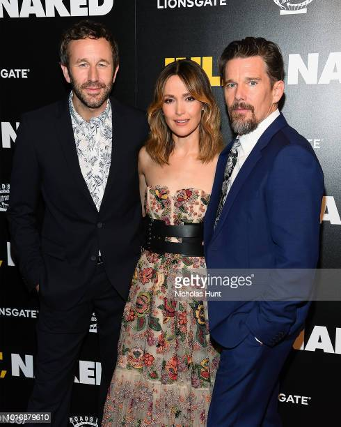 Actors Chris O'Dowd Rose Byrne and Ethan Hawke attend the Juliet Naked New York Premiere at Metrograph on August 14 2018 in New York City