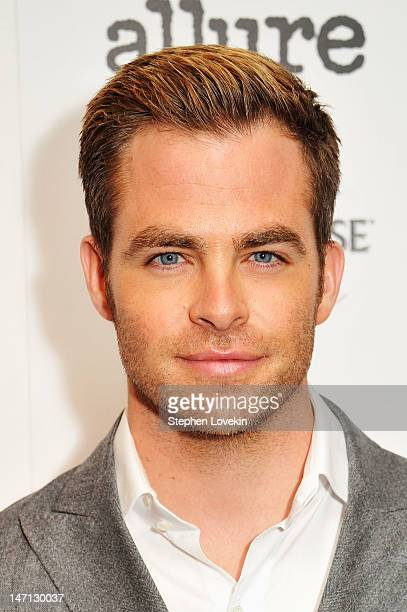 Actors Chris Pine attends the Cinema Society with Linda Wells Allure screening of DreamWorks Studios' People Like Us at Clearview Chelsea Cinemas on...