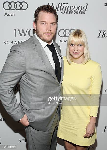 Actors Chris Pratt and Anna Faris arrive at The Motion Picture Television Fund Presentation of Reel Stories Real Lives at Milk Studios on October 20...
