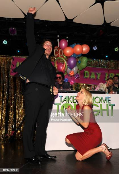 Actors Chris Pratt and Anna Faris attend Relativity Media presents the premiere of Take Me Home Tonight held at Regal Cinemas LA Live Stadium 14 on...