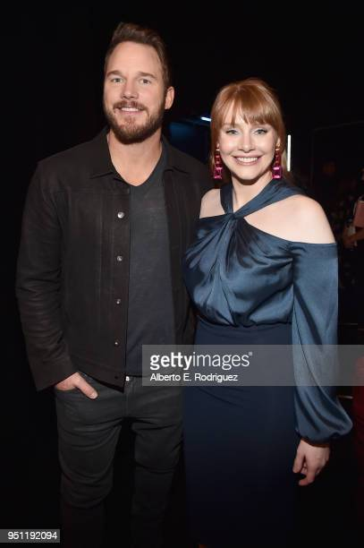 Actors Chris Pratt and Bryce Dallas Howard attend CinemaCon 2018 Universal Pictures Invites You to a Special Presentation Featuring Footage from its...