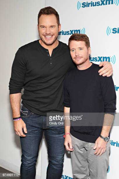 Actors Chris Pratt and Kevin Connolly visit the SiriusXM Studios on June 14 2018 in New York City