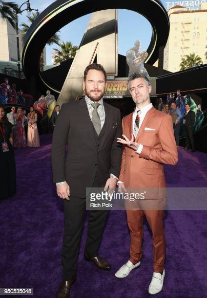 Actors Chris Pratt and Sean Gunn attend the Los Angeles Global Premiere for Marvel Studios' Avengers: Infinity War on April 23, 2018 in Hollywood,...