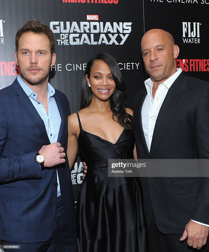 """The Cinema Society With Men's Fitness & FIJI Water Host A Screening Of """"Guardians of the Galaxy"""" : News Photo"""