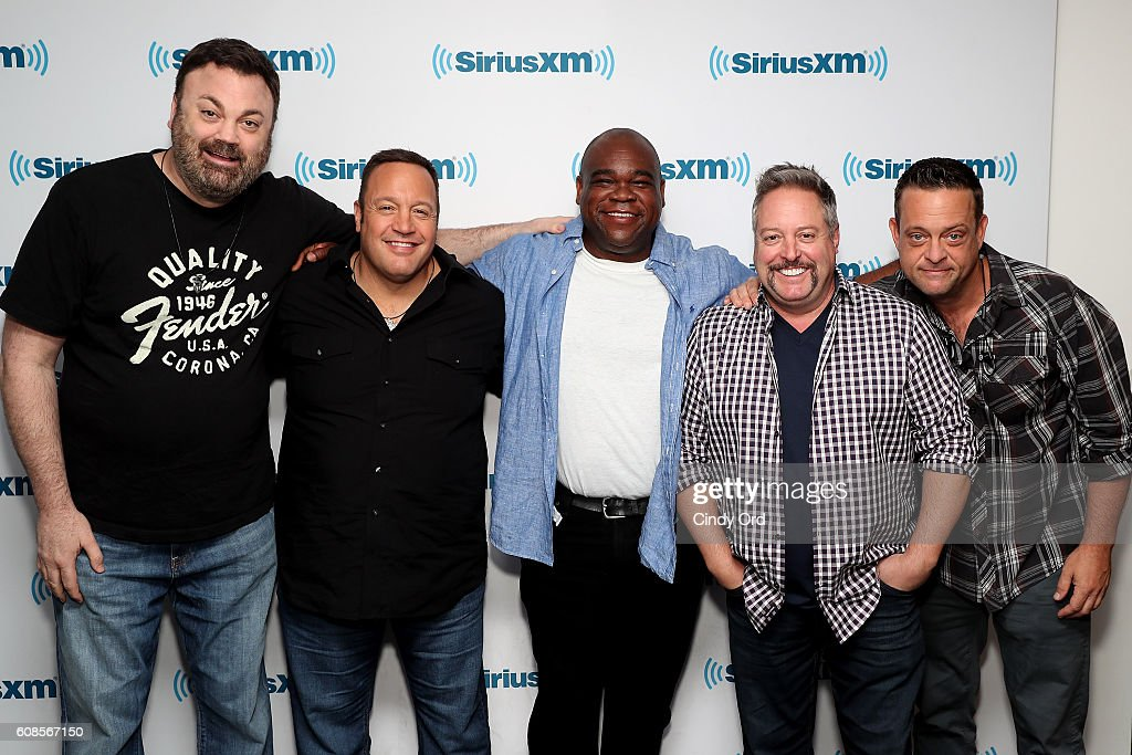 Actors Chris Roach, Kevin James, Leonard Earl Howze, Gary Valentine And  Lenny Venito