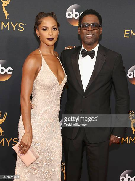 Actors Chris Rock and Megalyn Echikunwoke attends the 68th Annual Primetime Emmy Awards at Microsoft Theater on September 18 2016 in Los Angeles...