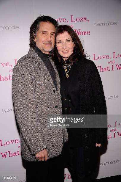 Actors Chris Sarandon and Joanna Gleason attend the Love Loss and What I Wore new cast member celebration at Marseille on February 4 2010 in New York...