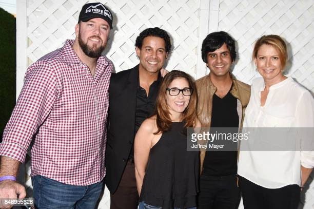 Actors Chris Sullivan John Huertas music supervisor Jennifer Pyken composer Siddharta Khosla and Executive Vice President Universal Music Enterprises...