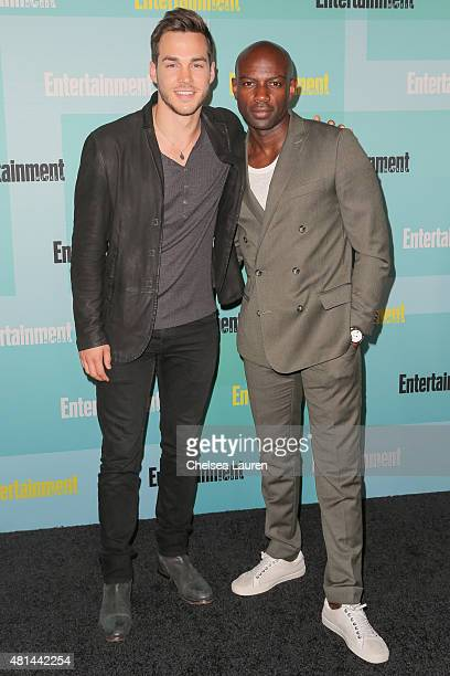 Actors Chris Wood and David Gyasi arrive at the Entertainment Weekly celebration at Float at Hard Rock Hotel San Diego on July 11 2015 in San Diego...