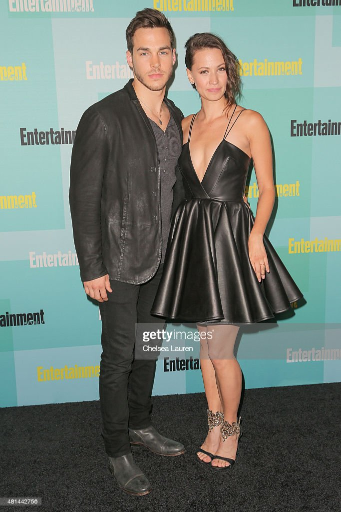 Actors Chris Wood (L) and Kristen Gutoskie arrive at the Entertainment Weekly celebration at Float at Hard Rock Hotel San Diego on July 11, 2015 in San Diego, California.
