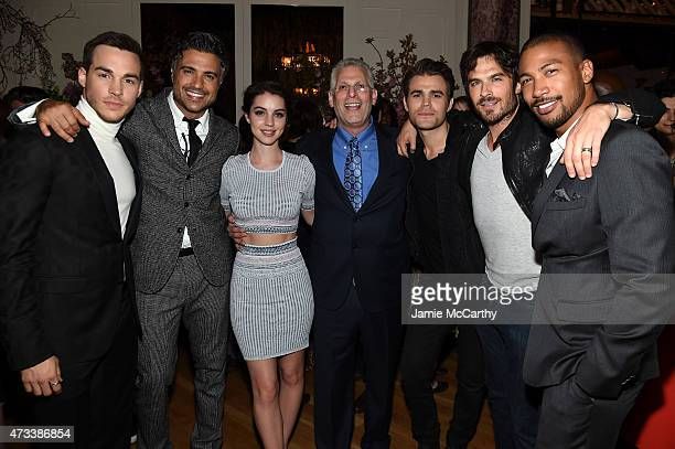 Actors Chris Wood Jaime Camil Adelaide Kane Mark Pedowitz President of The CW Network Paul Wesley Ian Somerhalder and Charles Michael Davis attend...