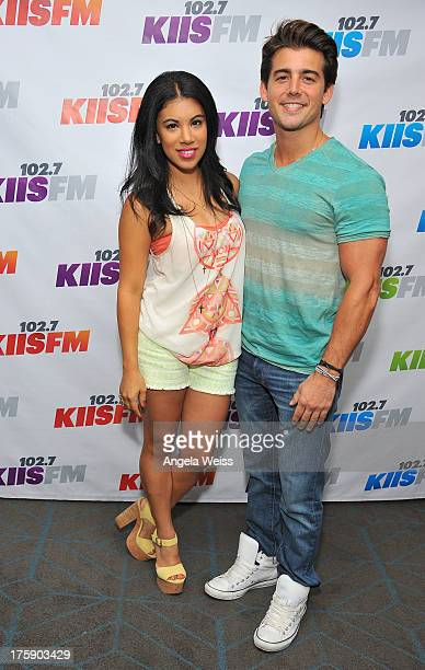 Actors Chrissie Fit and John DeLuca arrive at the 1027 KIIS FM Teen Choice Awards preparty at W Los Angeles Westwood on August 9 2013 in Los Angeles...