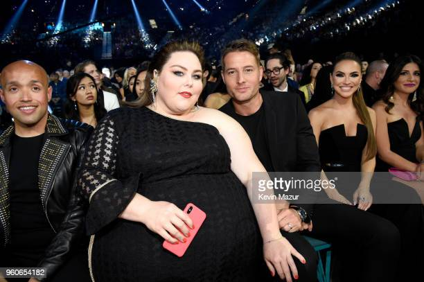 Actors Chrissy Metz and Justin Hartley attend the 2018 Billboard Music Awards at MGM Grand Garden Arena on May 20 2018 in Las Vegas Nevada