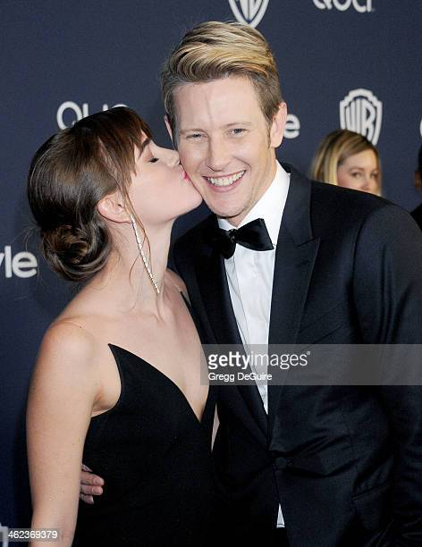 Actors Christa B Allen and Gabriel Mann arrive at the 2014 InStyle And Warner Bros 71st Annual Golden Globe Awards postparty at The Beverly Hilton...