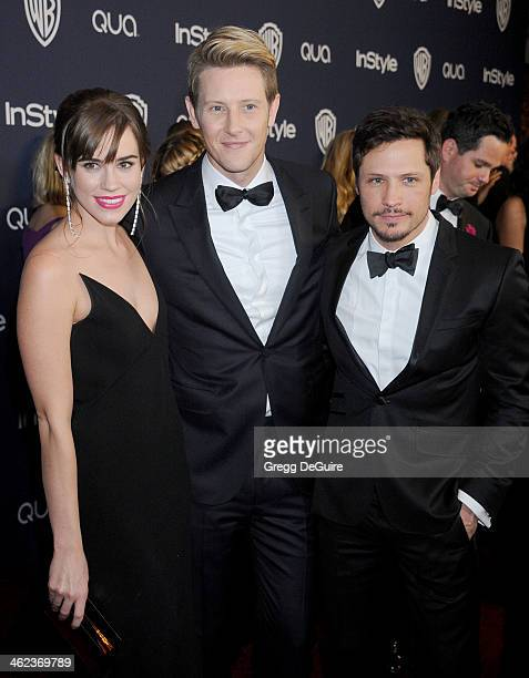 Actors Christa B Allen Gabriel Mann and Nick Wechsler arrive at the 2014 InStyle And Warner Bros 71st Annual Golden Globe Awards postparty at The...