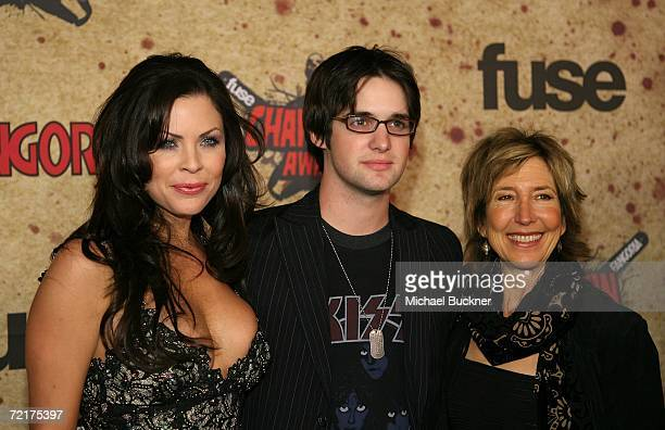 Actors Christa Campbell Dylan Edrington and Lin Shaye attend the fuse Fangoria Chainsaw Awards at the Orpheum Theater on October 15 2006 in Los...