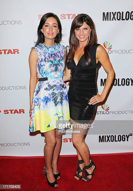 Actors Christan Serratos and Rachele Brooke Smith attend the premiere party for Pop Star at Mixology101 Planet Dailies on June 27 2013 in Los Angeles...