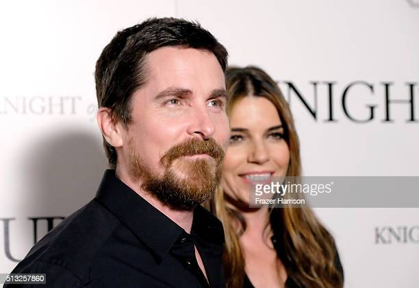 Actors Christian Bale and Sibi Blazic attend the premiere of Broad Green Pictures' 'Knight Of Cups' on March 1 2016 in Los Angeles California