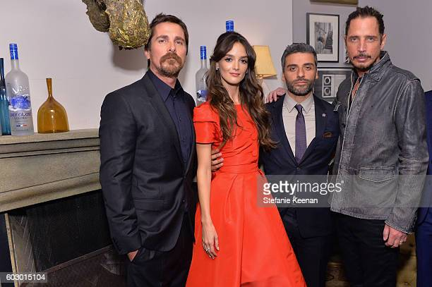 Actors Christian Bale Charlotte Le Bon Oscar Isaac and singer Chris Cornell at the The Promise TIFF party hosted by GREY GOOSE Vodka and Soho House...