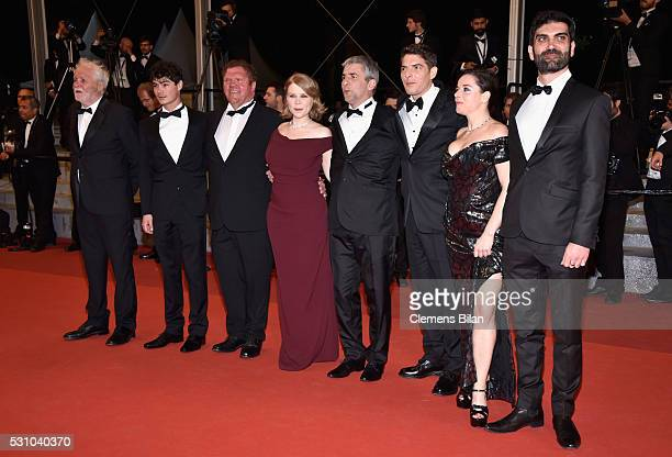Actors Christian Bouillette Basile Meilleurat Raphael Thiery India Hair Damien Bonnard Alain Guiraudie Laure Calamy and Sebastien Novac attend the...