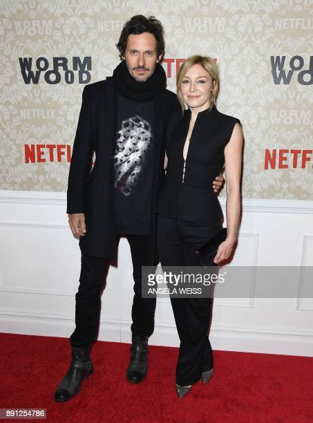 Actors Christian Camargo and Juliet Rylance attend the New York Premiere of 'Wormwood' hosted by Netflix at The Campbell on December 12 2017 in New...