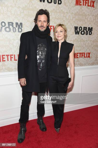 Actors Christian Camargo and Juliet Rylance attend the 'Wormwood' New York premiere on December 12 2017 in New York City