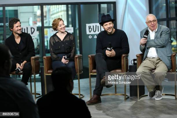 Actors Christian Camargo Molly Parker and Peter Sarsgaard and filmmaker Errol Morris discuss 'Wormwood' at Build Studio on December 11 2017 in New...