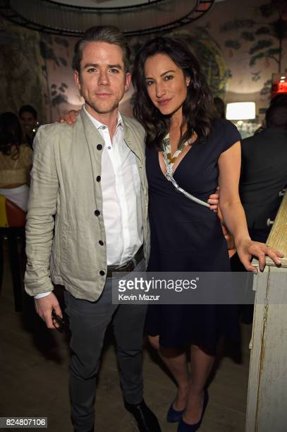 Actors Christian Campbell and America Olivo The Last Tycoon New York Special Screening VIP Reception at the Whitby Hotel on July 25 2017 in New York...