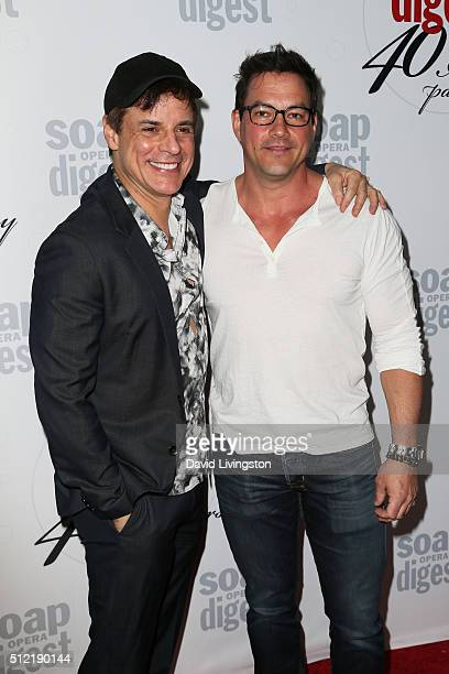 Actors Christian LeBlanc and Tyler Christopher arrive at the 40th Anniversary of the Soap Opera Digest at The Argyle on February 24 2016 in Hollywood...