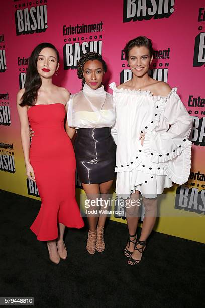 Actors Christian Serratos Sonequa Martin and Lauren Cohan attend Entertainment Weekly's ComicCon Bash held at Float Hard Rock Hotel San Diego on July...